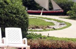Parte del jardín del hotel
